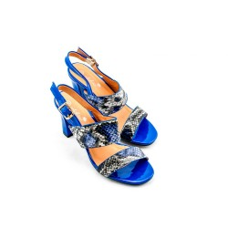 Adora AS001-2 Blue Women Dress Sandals 37 EU