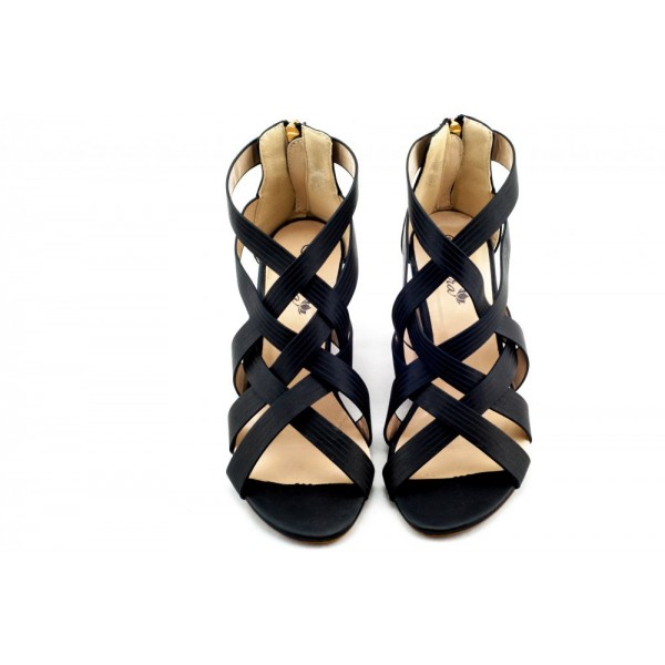 Adora AS005-1 Black Women Dress Sandals 37 EU