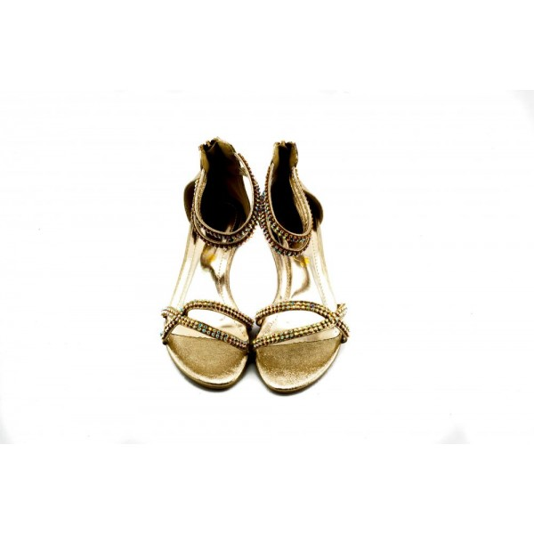 Adora AS019-2 Gold Girls Dress Sandals 34 EU