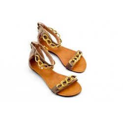 Adora AS023-2 Khaki Women Dress Sandals 40 EU
