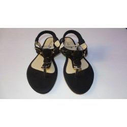 Adora AS025-1 Black Women Dress Sandals 40 EU