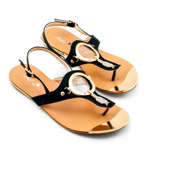 Adora AS029-1 Black Women Dress Sandals 39 EU