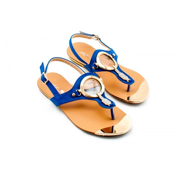 Adora AS029-2 Navy Women Dress Sandals 36 EU