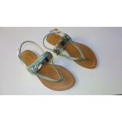 Adora AS030-1 Green Women Dress Sandals 40 EU