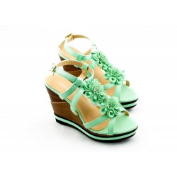 Adora AS040-2 Green Women Dress Sandals 37 EU