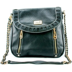Adora AH012 Black PU Leather Handbag