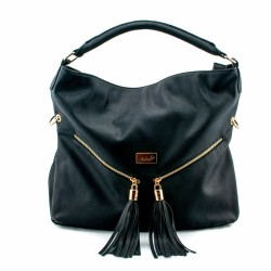 Adora AH023 Black PU Leather Handbag
