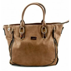 Adora AH024 Taupe PU Leather Handbag