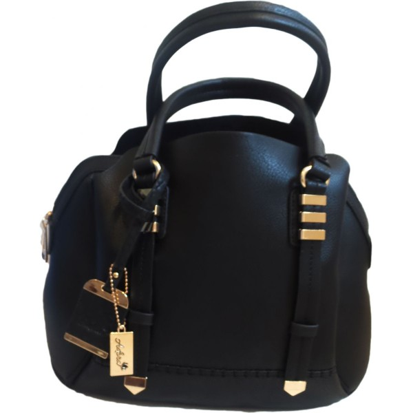 Adora AH026 Black PU Leather Handbag