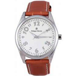 Philippe Moraly for Men - Analog Leather Band Watch - L0511WWO