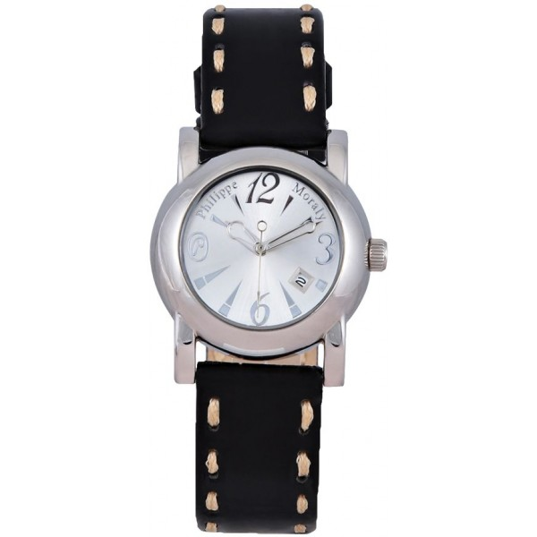 Philippe Moraly for Women - Analog Leather Band Watch - L0724WBB