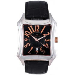 Philippe Moraly for Men - Analog Leather Band Watch - L1021CRBB