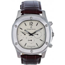 Philippe Moraly for Men - Analog Leather Band Watch - L1151WIO